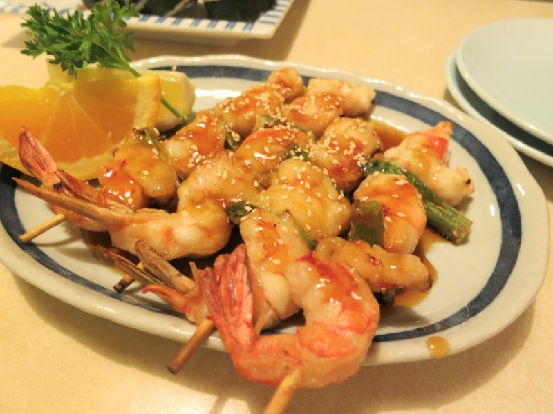kushi ebi teriyaki at kyoto japanese restaurant