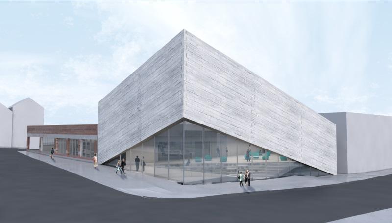 kimball art center redesign exterior