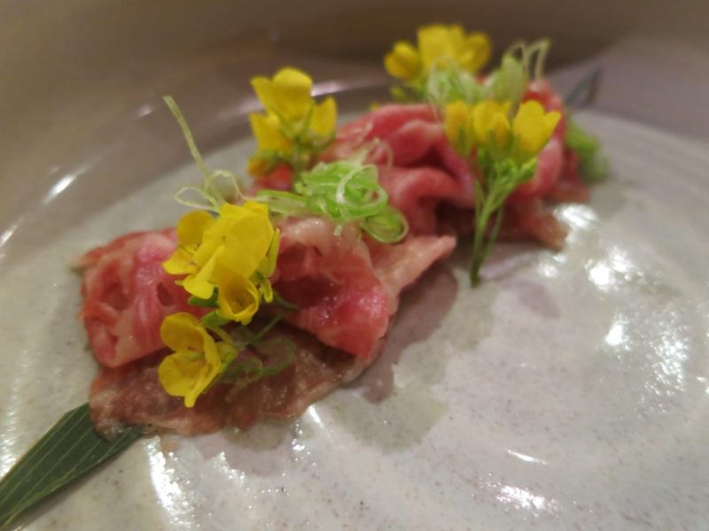 naked fish omakase miyazaki beef close up
