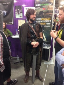 Gordon Dunn wears one of the character costumes for 'LARP: The Movie.'