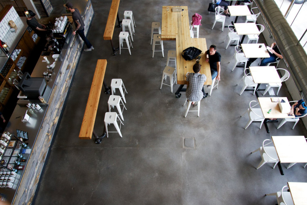 The multi-use space is 13,000 square feet and includes a cafe, roasting facility, event space and offices.