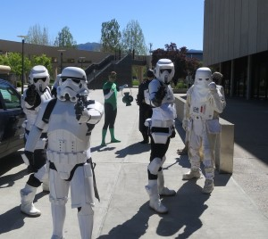 stormtroopers outside slc comicon press conference 2014