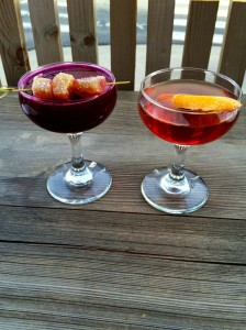 Cocktails on Copper Common's patio.