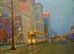 Heading Up Main, an 18x24 oil  painting by Karen Horne.