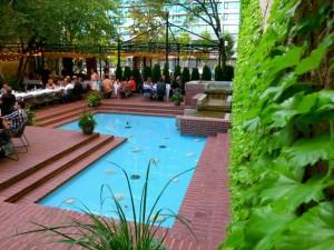 Caffé Molise's patio in Salt Lake City.