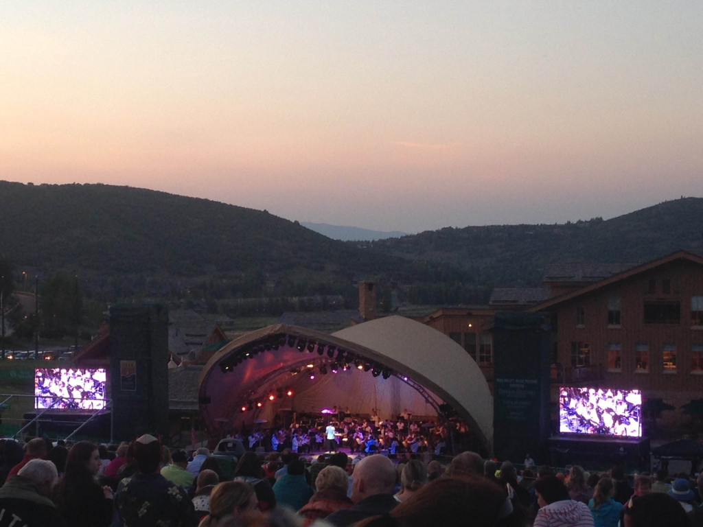 Deer Valley Music Festival at dusk
