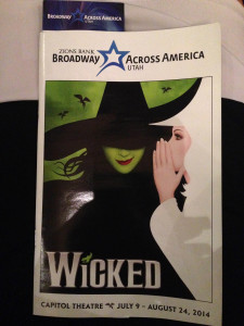 Wicked Program Capitol Theatre Broadway Across America