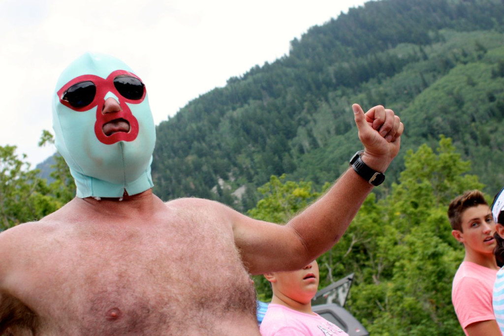 Nacho Libre has become a staple in the Tanners Flat crowd.