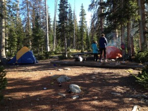 camping in the Uintas