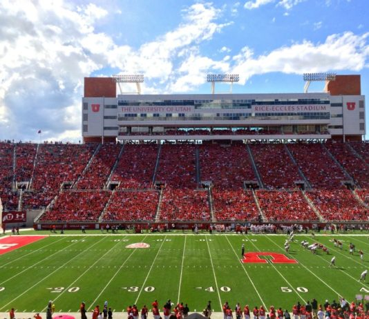 Rice Eccles Stadium at the University of Utah in Salt Lake City.