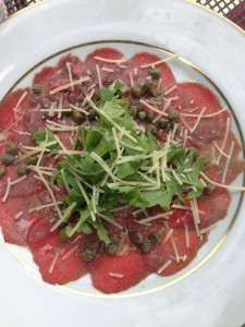 classic carpaccio at Honeycomb Grill