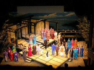 The cast of Utah Opera's Madame Butterfly at curtain call.