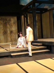 Yunah Lee as Butterfly and Eric Fennell at B.F. Pinkerton in Utah Opera's Madame Butterfly.
