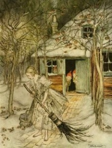 'The Juniper Tree,' as illustrated by Arthur Rackham in the 1909 edition of Grimm's Fairy Tales (Finisterra Press).