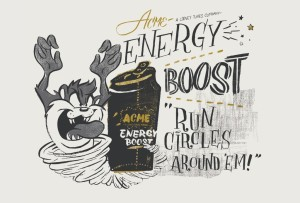 One of the high-quality art illustrations Robin Banks did for Warner Bros. Looney Tunes characters to be featured in The Acme Factory product line (in a project coordinated with Struck Advertising). Photo credit: Warner Bros. (Struck Advertising).