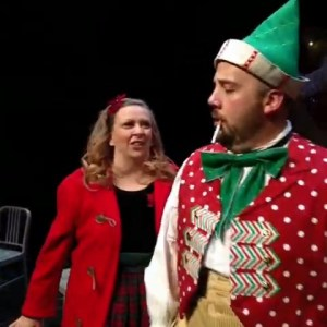 Colleen Baum and Kirt Bateman in 'The Girl and The Elf' from 'Christmas with Misfits,' written by Julie Jensen.