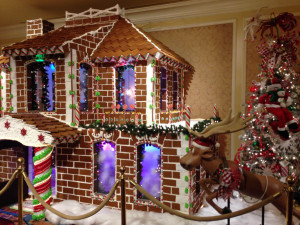 The Grand America's giant gingerbread house