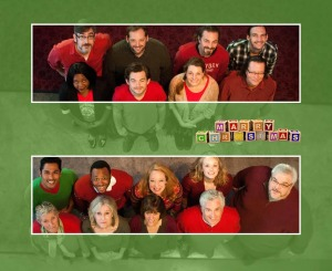 The cast of Plan-B Theatre's world premiere Script-in-Hand Series production of 'Marry Christmas,' written by Elaine Jarvik and directed by Jason Bowcutt.