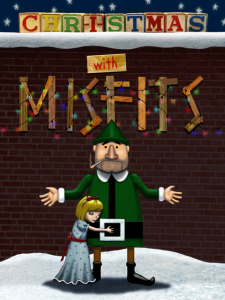Plan-B Theatre's 'Christmas with Misfits,' written by Julie Jensen and directed by Cheryl Ann Cluff. Artwork by Grant Fuhst.