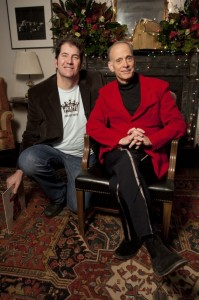 Mitchell Kezin, director of 'Jingle Bell Rocks!', with John Waters,