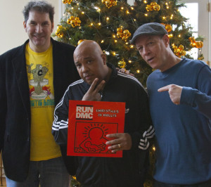 Mitchell Kezin (left) with Joseph Simmons (Rev. Run of Run DMC) and Bill Adler.