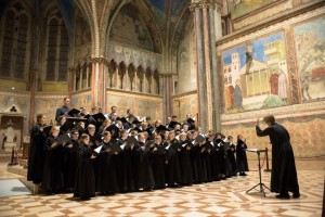 Madeleine Choir School choristers at Assisi Basilica. (Photo by Butch Adams.)