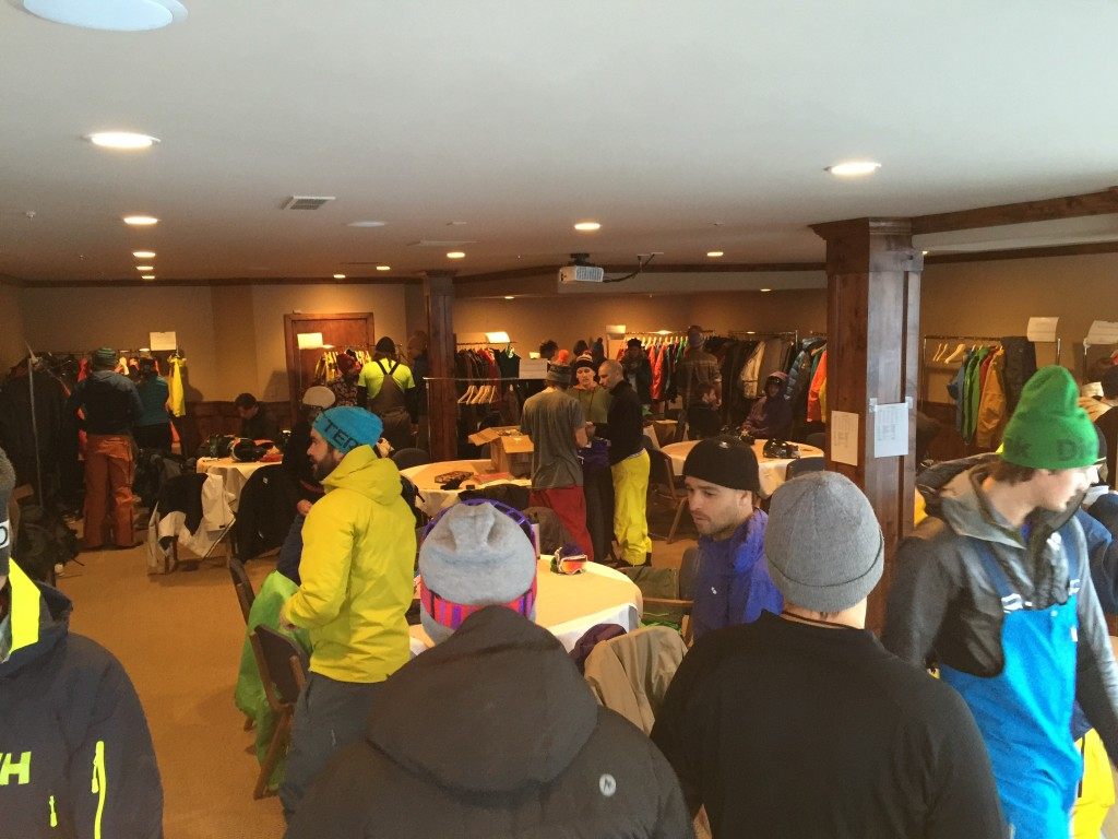 The Thread the Needle group gears up in new outerwear Sunday morning