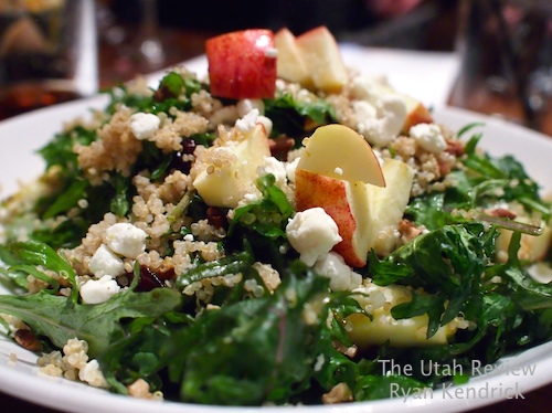 Bandits' offers a strong selection of large entree salads such as the tri tip salad and quinoa salad with kale, pecans, and goat cheese