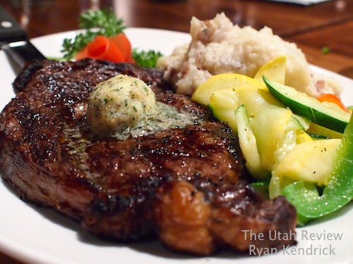 16 ounce ribeye steak, $26
