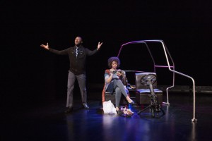 Carleton Bluford and Latoya Rhodes, 'A/Version of Events,' by Matthew Ivan Bennett. (Photo by Rick Pollock)
