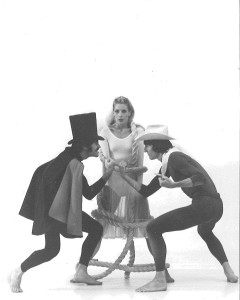 Kay Clark (center) in 'Age of Innocence,' choreographed by Ethel Winter. Also featured are Gregg Lizenberry and Bill Evans, Clark co-founded RDT with Linda Smith.
