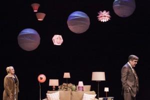 April and Mark Fossen, 'Pilot Program,' Plan-B Theatre, Photo by Rick Pollock.