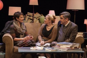 Susanna Florence Risser and April and Mark Fossen, 'Pilot Program,' Plan-B Theatre, Photo by Rick Pollock.