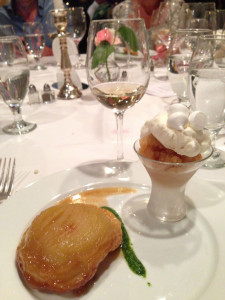 apple tart tatin and apple cider granité