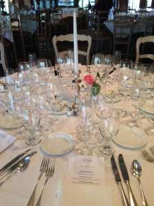 French Wine Scholar dinner at La Caille