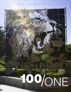 Lion Mural: 2014 Utah Arts Festival