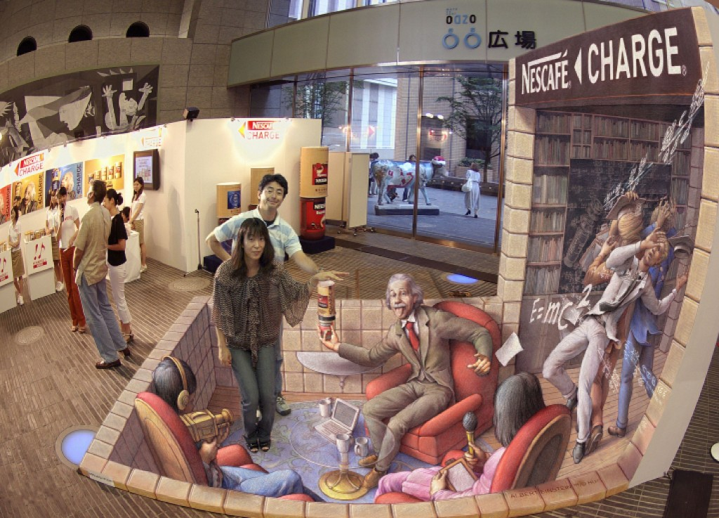 'Einstein is Impressed' by Kurt Wenner.