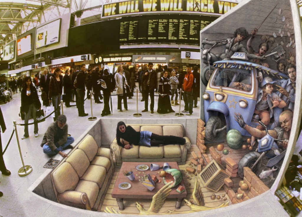 'Incident at Waterloo' by Kurt Wenner.