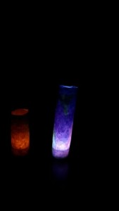 Crayon batik tea lamps 3