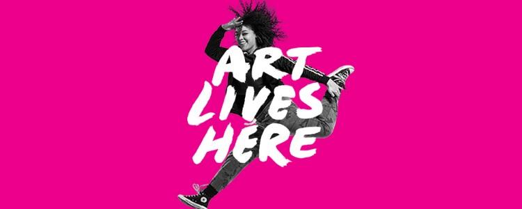 art lives here logo