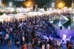 Nighttime festival crowds. Credit: Austen Diamond Photography.