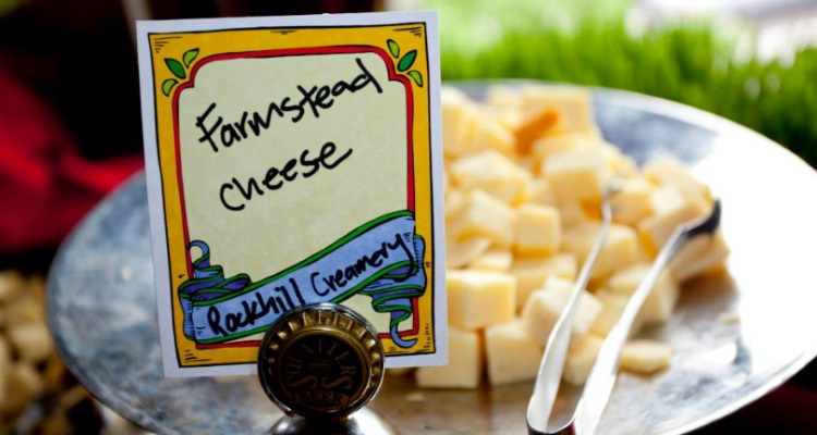 rockhill creamery cheese at farmers market kickoff party