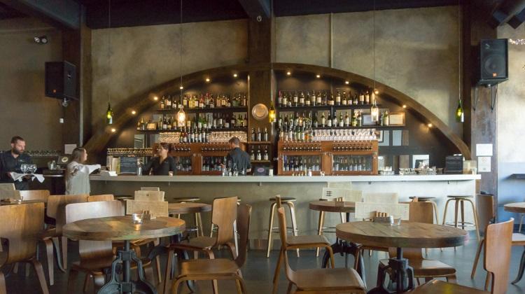 BTG wine bar interior and bar