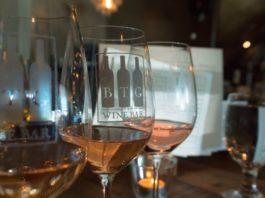 BTG wine bar rose flight