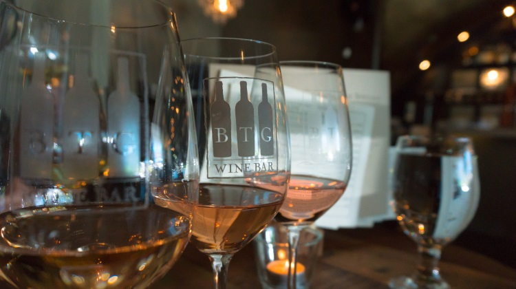 BTG wine bar rose flight
