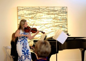 Kathryn Eberle, violinist, at the NOVA Chamber Music Series' Gallery Concert.
