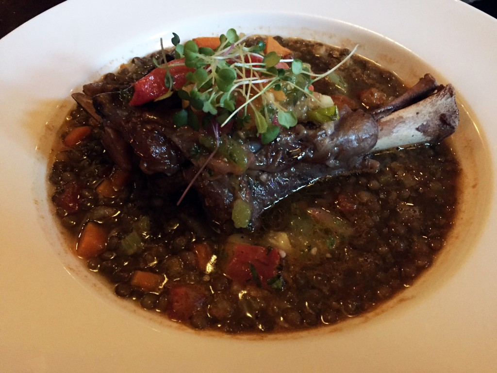 maple-braised Australian lamb shank