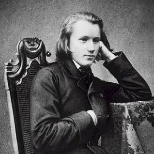 Brahms, as a young man.