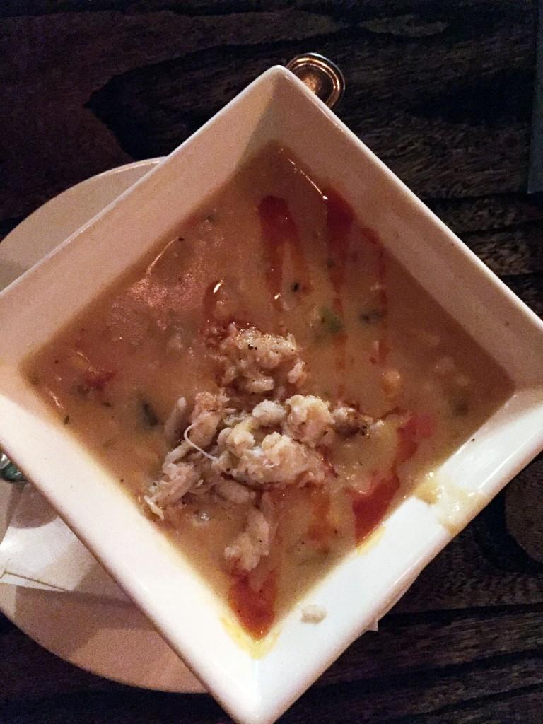 Roasted corn crab chowder