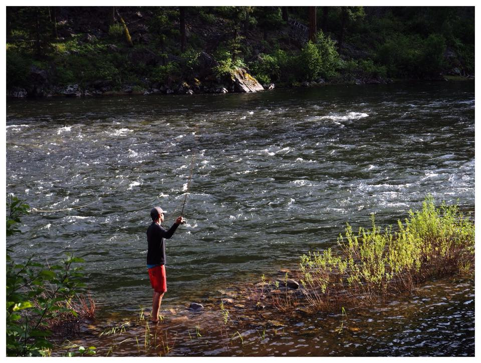 Fly fishing on a side creek on the Middle Fork
